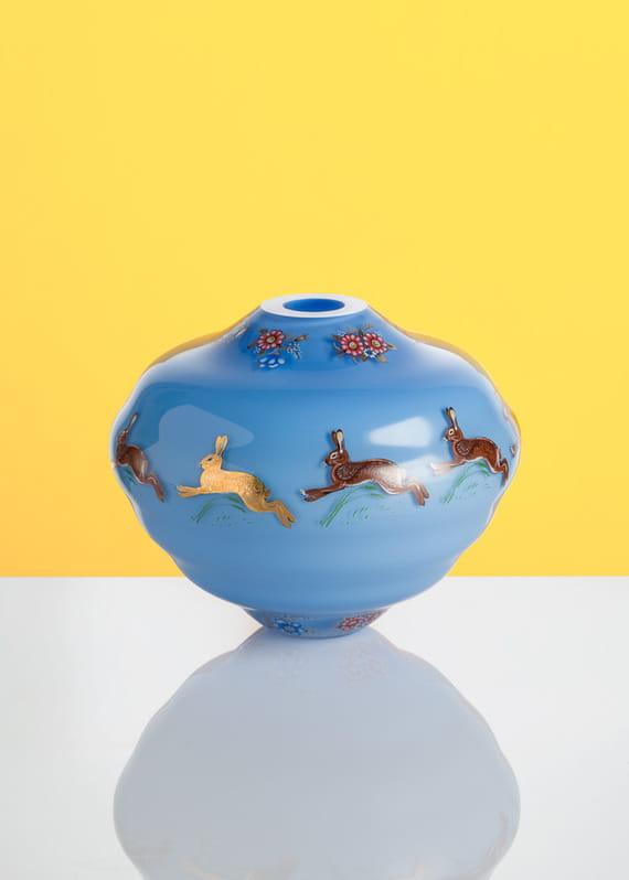Decal vase - modrá_2 by František  Jungvirt,