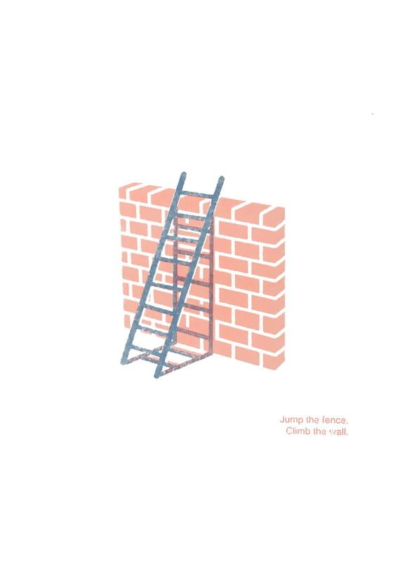 Jump the fence. Climb the wall. by Jakub Mikuláštík,