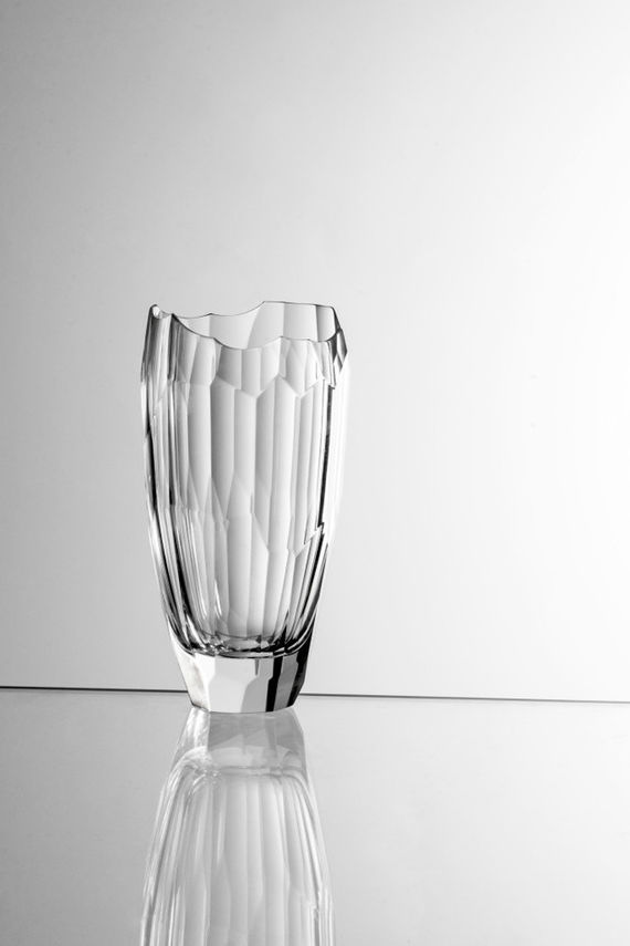 Crystal Vase / Clear glass by Daniel  Vágner,