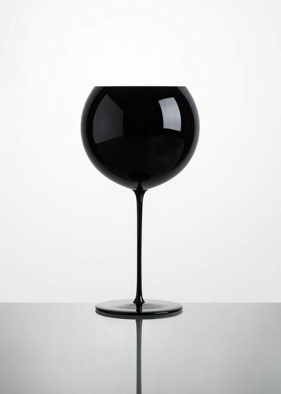 Wine glasses Bubbles / Black / 2 pieces by Lukáš  Houdek,