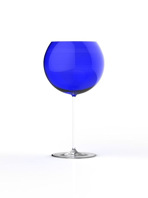 Wine glasses Bubbles / Blue by Lukáš  Houdek,