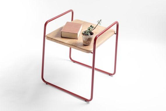 Stolička 3S / Červená by DURO DESIGN,