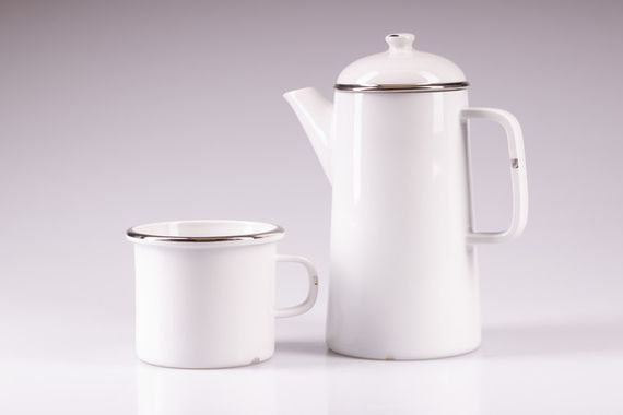 PORCELAINE TEAPOT / PLATINUM by  Luckavo,