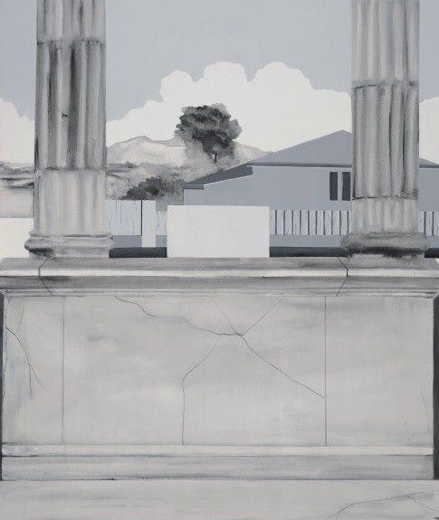 Bez názvu (série Die Klassizistischen Strukturen) by Martina Smutná,