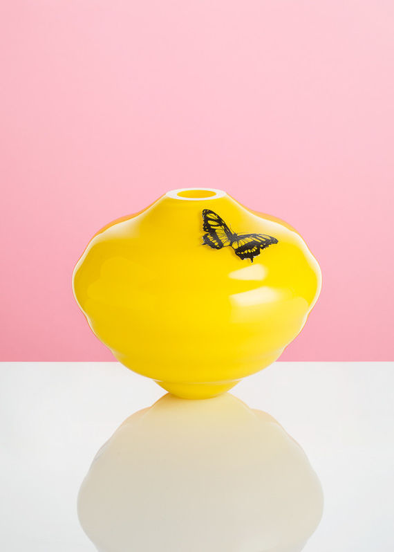 Decal vase - Yellow #1 by František  Jungvirt,