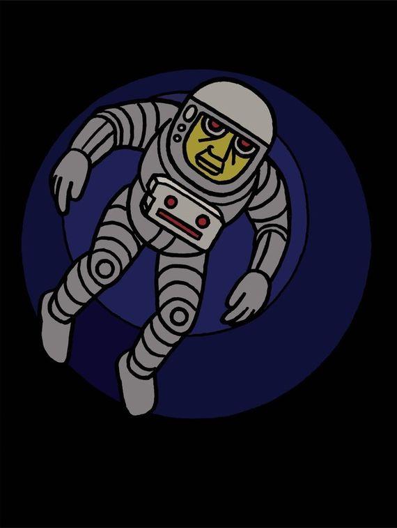Astronaut v kruhu by Pavel Brázda,