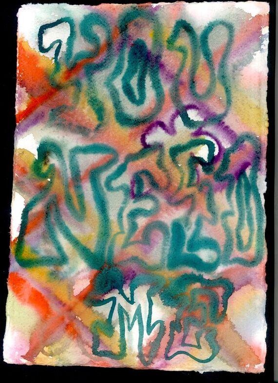 Untitled #4 (aquarel) by Alžběta Krňanská,