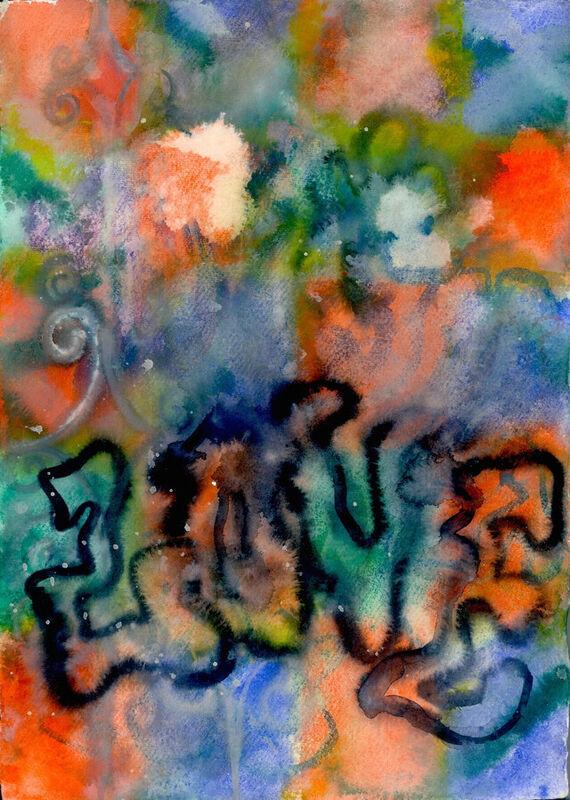 Bez názvu #10 (akvarel) by Alžběta Krňanská,