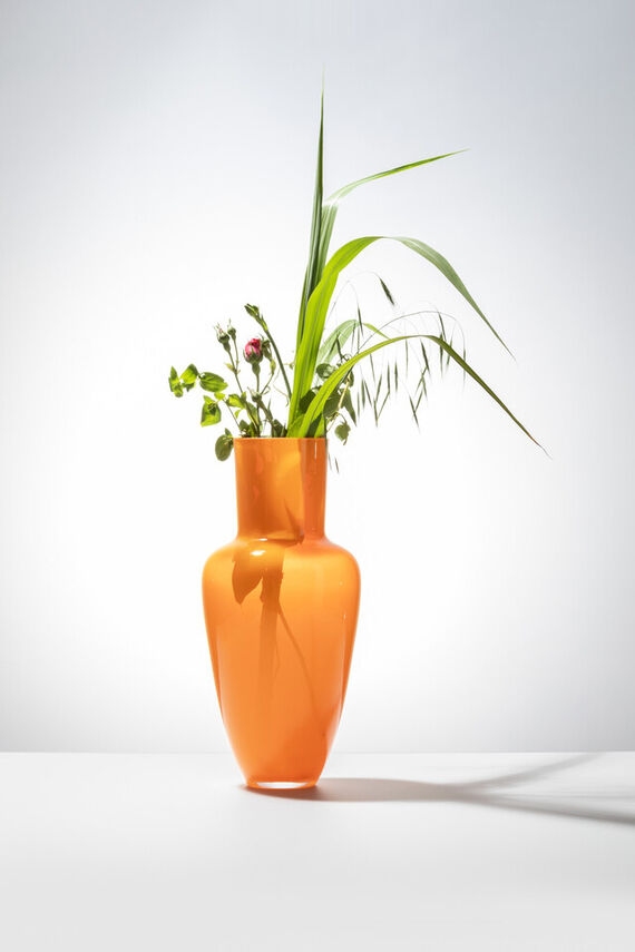Garden vase - Orange by František  Jungvirt,