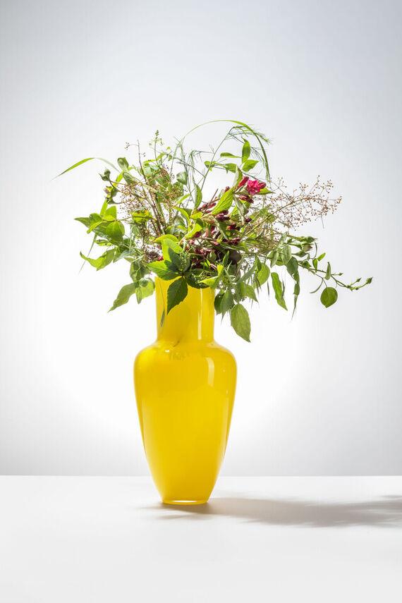 Garden vase - Yellow by František  Jungvirt,
