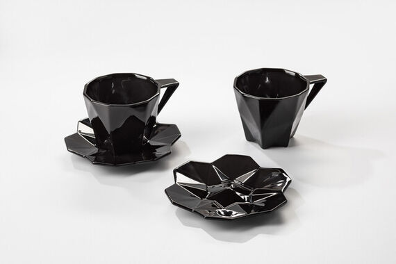Black cup with saucer by  Vjemy,