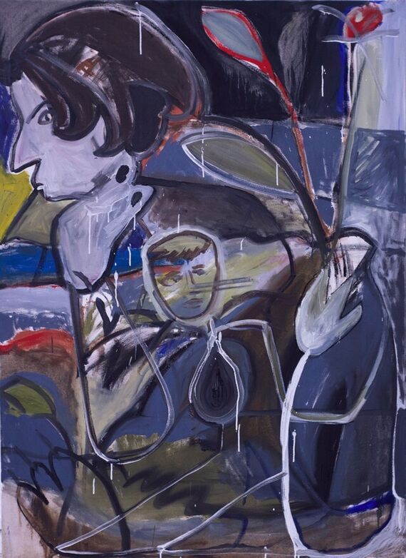 Žena a chlapec by Matouš  Hrbek,