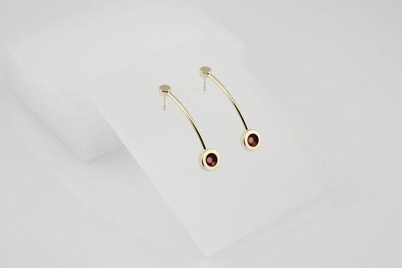 Kyō earrings long + acrylic by Katerina  Reich,
