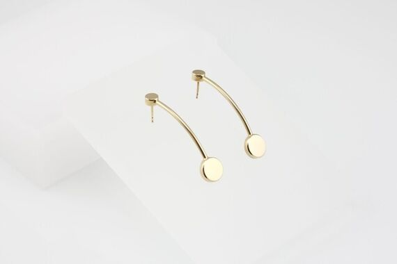 Kyō earrings long  by Katerina  Reich,