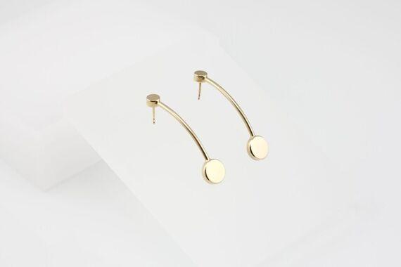 Kyō earrings long  by Katerina  Reich,