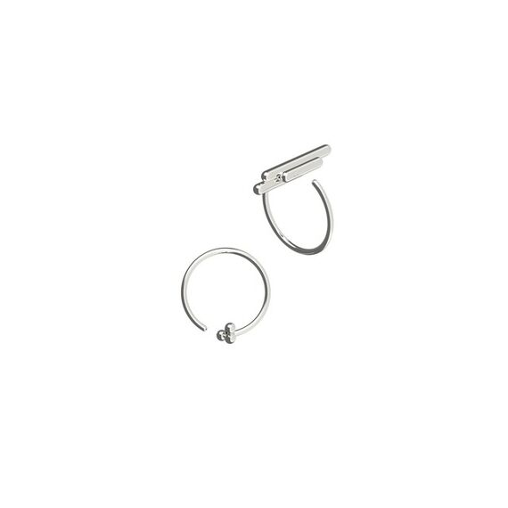 Space ear/ring white by Antonie  Lechér,