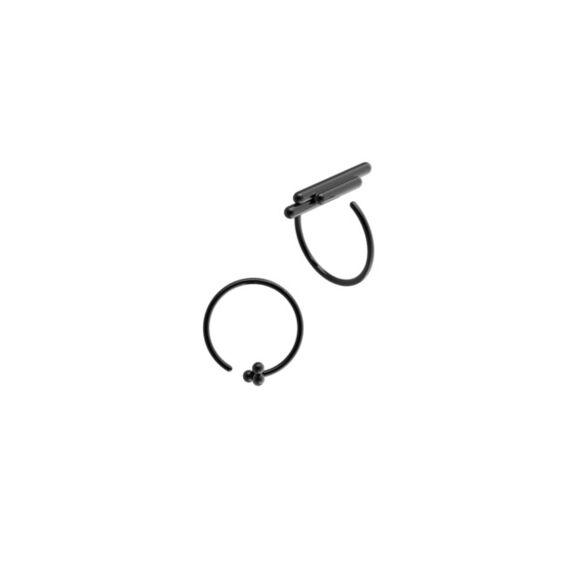 Space ear/ring black by Antonie  Lechér,