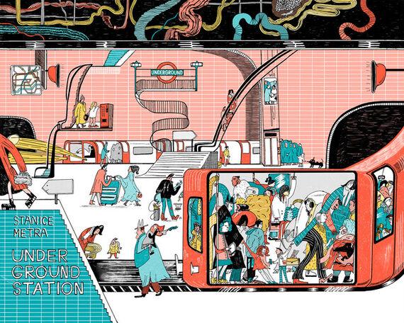 Londýnské metro by Anastasia  Stročkova,