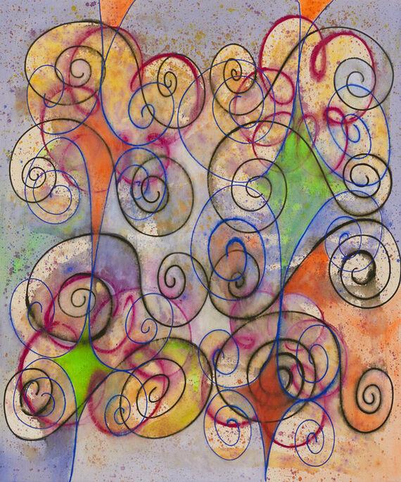 Bez názvu #14 (akryl) by Alžběta Krňanská,