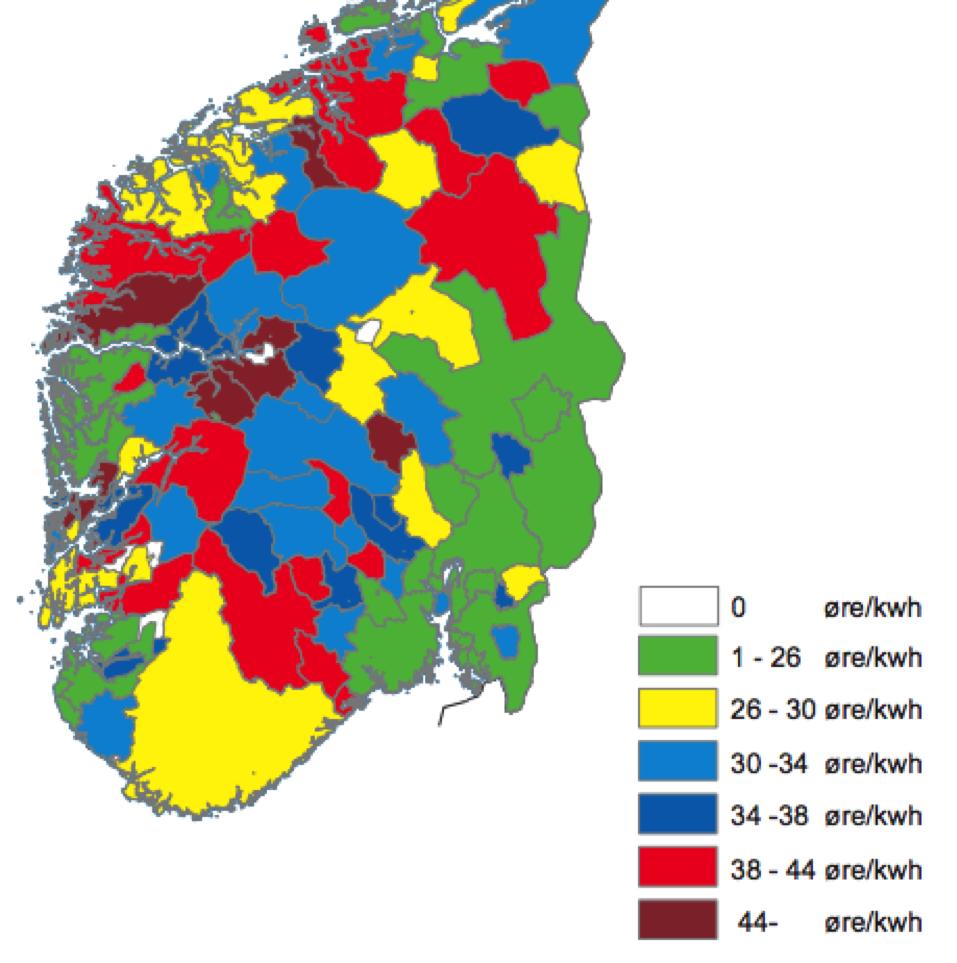 Priser for nettleie i Norge