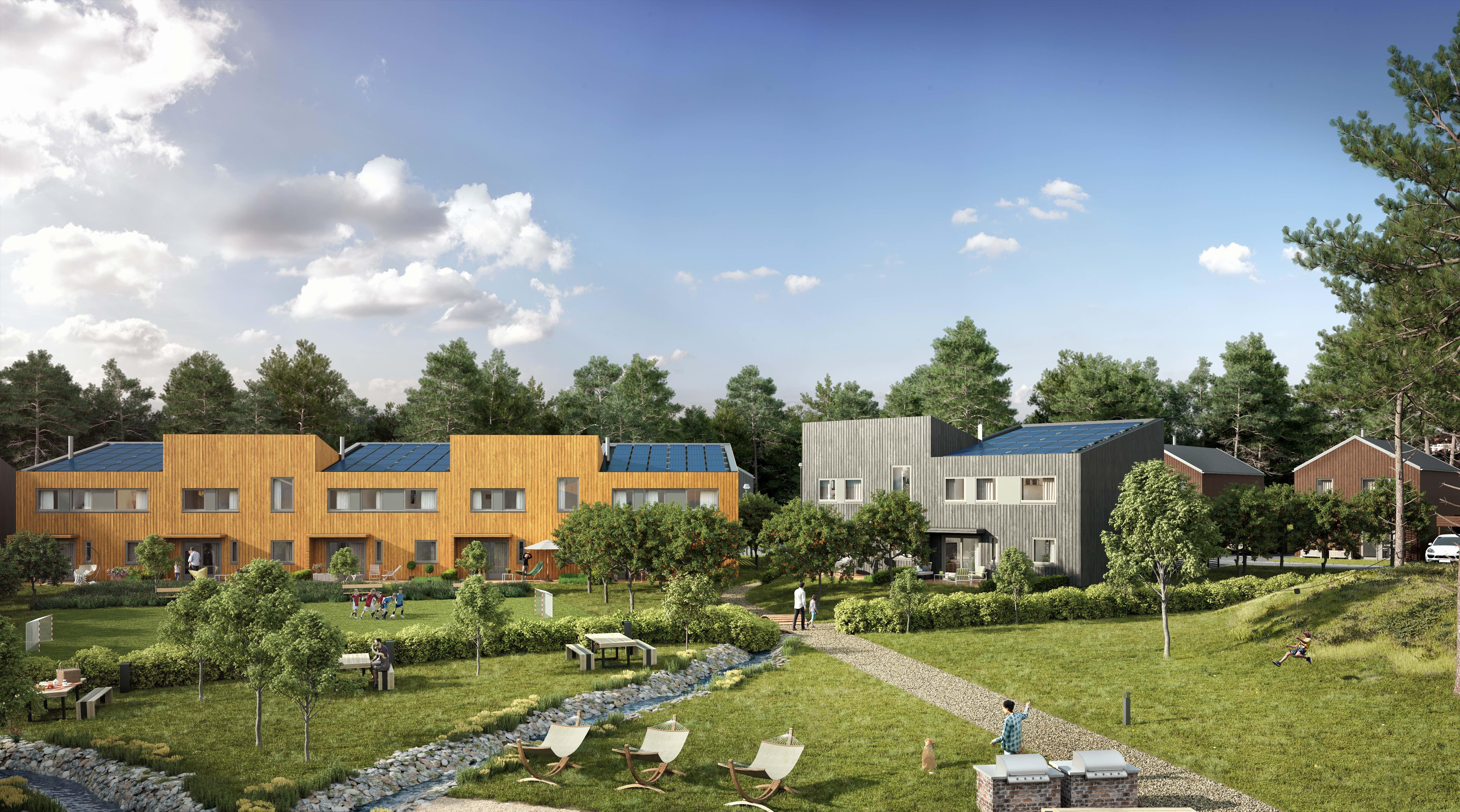 Skal legge 1 500 solceller på 72 hus på Ski