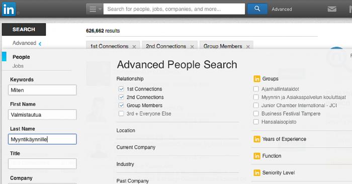 Viisi tapaa hyödyntää LinkedIniä myyntikäynnin valmistelussa