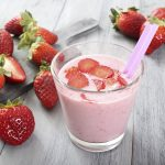 Smoothie alla fragola e soia