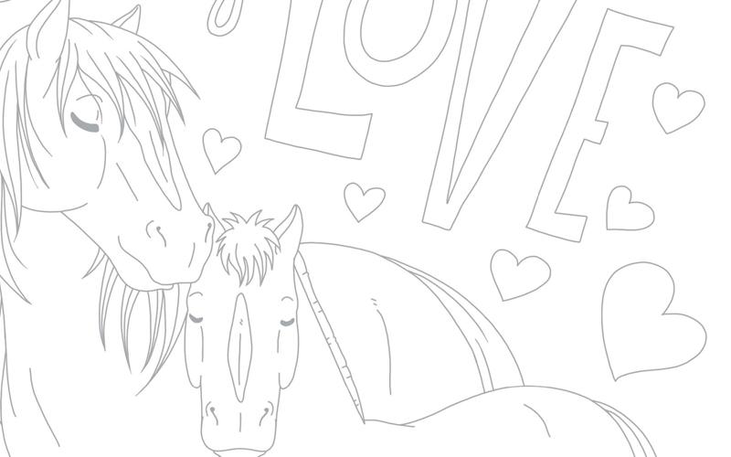 Kleurplaten Love Paarden.Family Love Penny