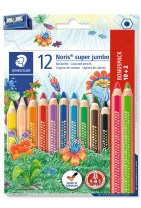 STAEDTLER Noris super jumbo sekskantede farveblyanter, 12  for 10!