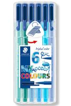 "STAEDTLER Triplus color tusser, 6 ass. ""Ocean colours"""