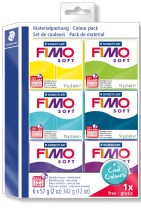 "FIMO Soft Colour pack, ""Cool Colours"" 6 stk."