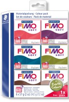 "FIMO Soft Colour pack, ""Earth Colours"" 6 stk."