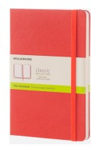 MOLESKINE CORAL ORANGE LARGE PLAIN NOTEB