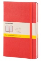 MOLESKINE CORAL ORANGE LARGE SQUARED NOT