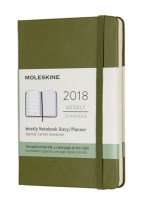 2018 MOLESKINE ELM GREEN POCKET WEEKLY N
