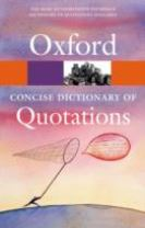 Concise Oxford Dictionary of Quotations