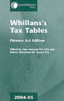 WHILLANS'S TAX TABLES 2004-2005