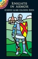 Knights in Armor Stained Glass Coloring Book
