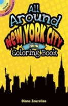 All Around New York City Mini Coloring Book