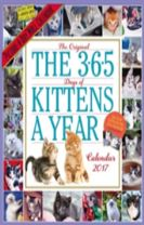 The 365 Kittens-A-Year Wall Calendar 2017