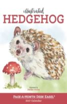Illustrated Hedgehog Page-A-Month Desk Easel Calendar 2017