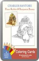 Charles Santore Peter Rabbit & Benjabunny Coloring Cards  Cc126