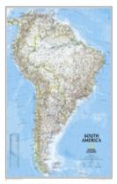 South America Classic, Enlarged &, Laminated