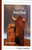 Highland Cow Postcard Book