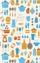 2017 Recipe Diary 'Utensils Design': A5 Week-to-View Kitchen & Home Diary with 52 Weekly Recipes