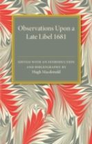 Observations Upon a Late Libel