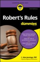 Robert's Rules for Dummies, 3rd Edition, Updated