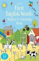 First English Words Sticker and Colouring Book