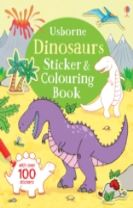 Dinosaurs Sticker & Colouring Book