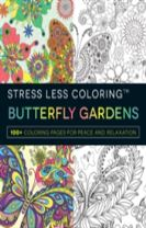 Stress Less Coloring - Butterfly Gardens